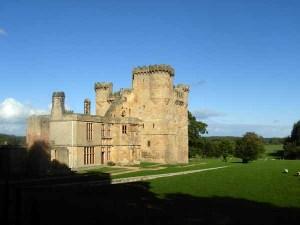 Castle at Belsay Hall